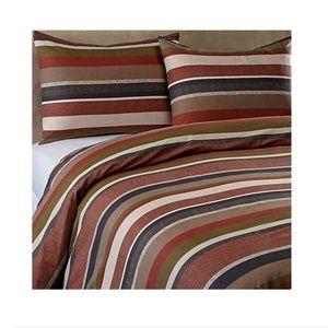 Malibu Reversible Duvet Cover Set in Brown (2pc)